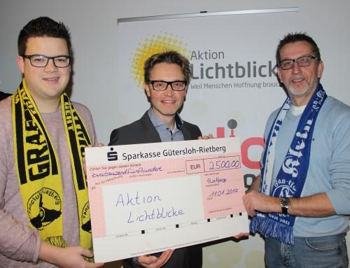 Aktion Lichtblicke freut sich über Spende in Höhe von 2500 Euro